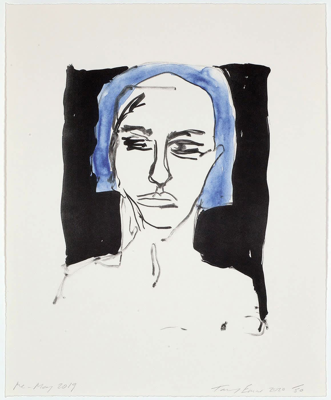 Tracey Emin Me - May Two colour lithograph on Somerset velvet warm white paper