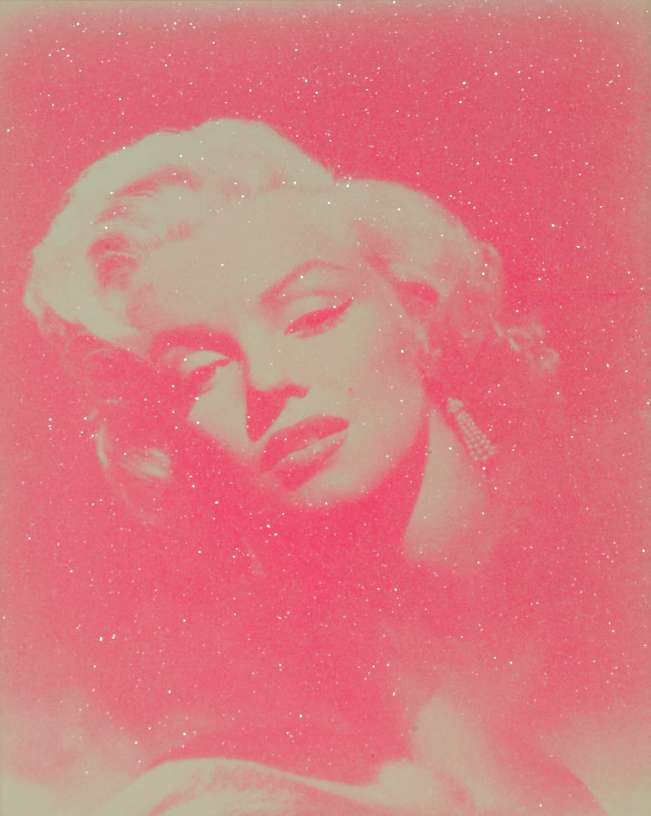 Russell Young, Marilyn Glamour - Pink and White, 2010