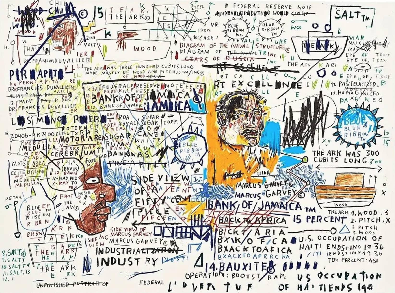 Jean-Michel Basquiat, 50 Cent Piece, 1983/2020