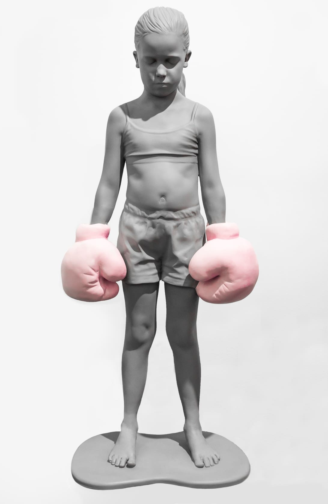Schoony Bruiser (Pink Gloves) Wood and Fibreglass