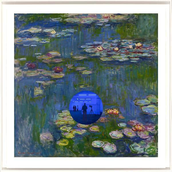 Jeff Koons Gazing Ball (Monet Water Lilies) Archival pigment print on Innova rag paper glass