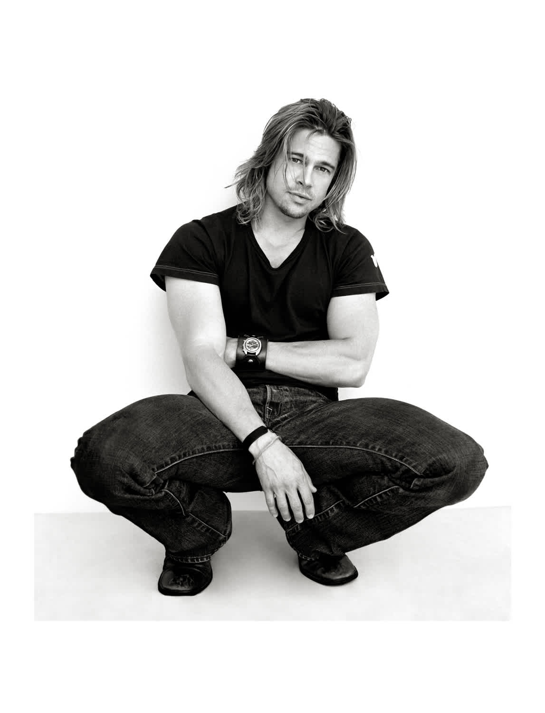 Andy Gotts Brad Pitt Co-signed C-Type Photographic Print