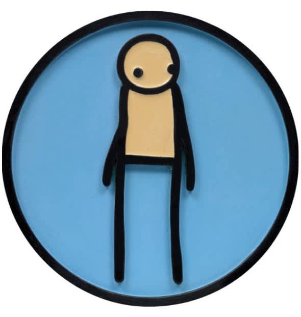 STIK Plaque (Heritage Blue) Hand-cast resin with colour-tinted polyurethane resin and aluminium trioxide