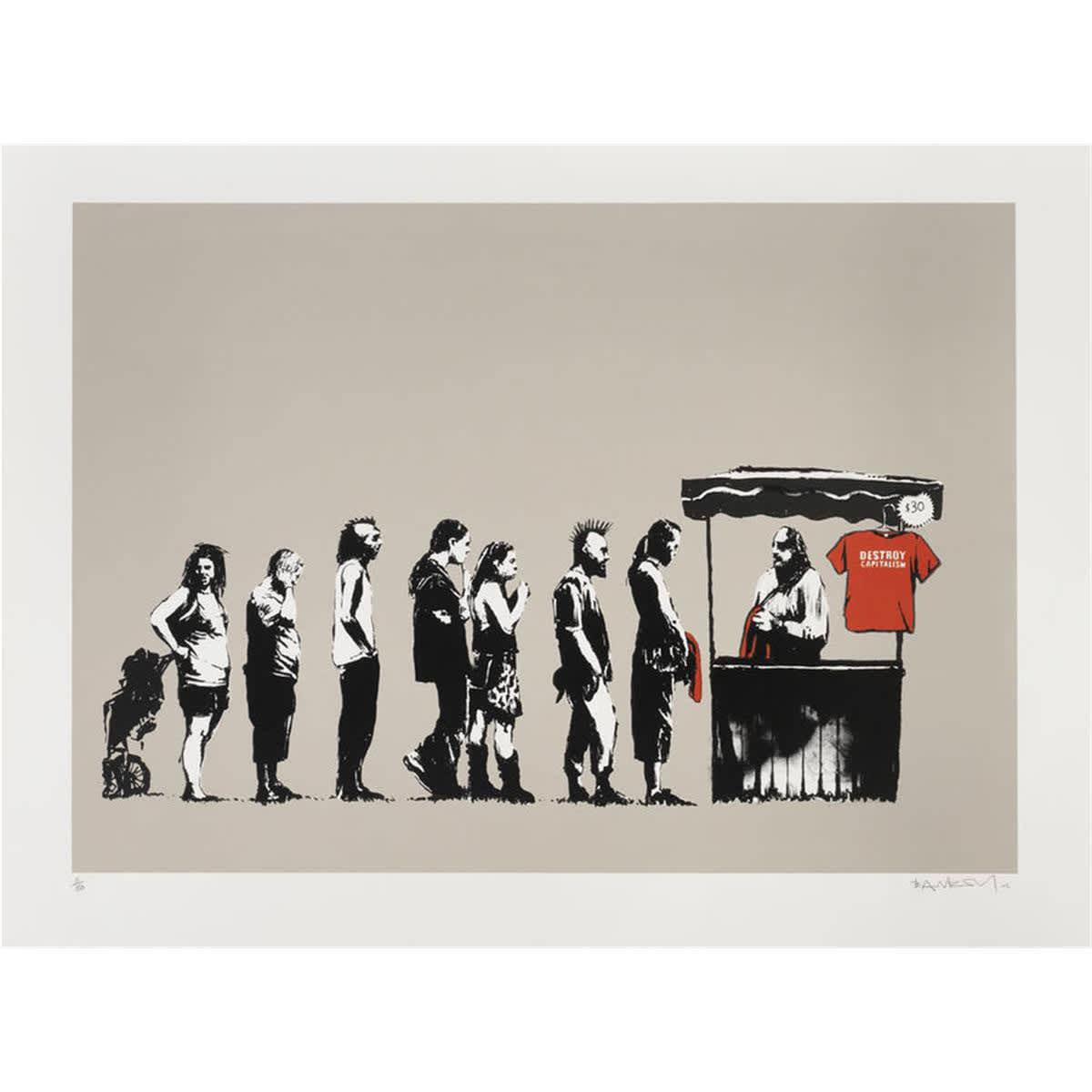 Banksy, Festival (Destroy Capitalism), 2006