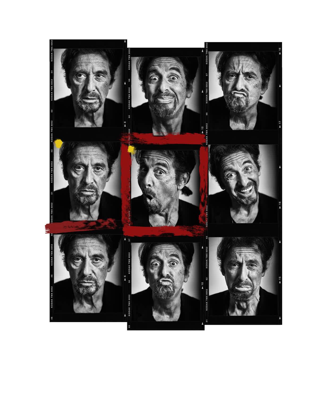 Andy Gotts Al Pacino Contact Sheet Fine Art Giclée Archival Print