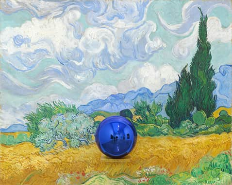 Jeff Koons, Gazing Ball (van Gogh Wheatfield with Cypresses), 2017