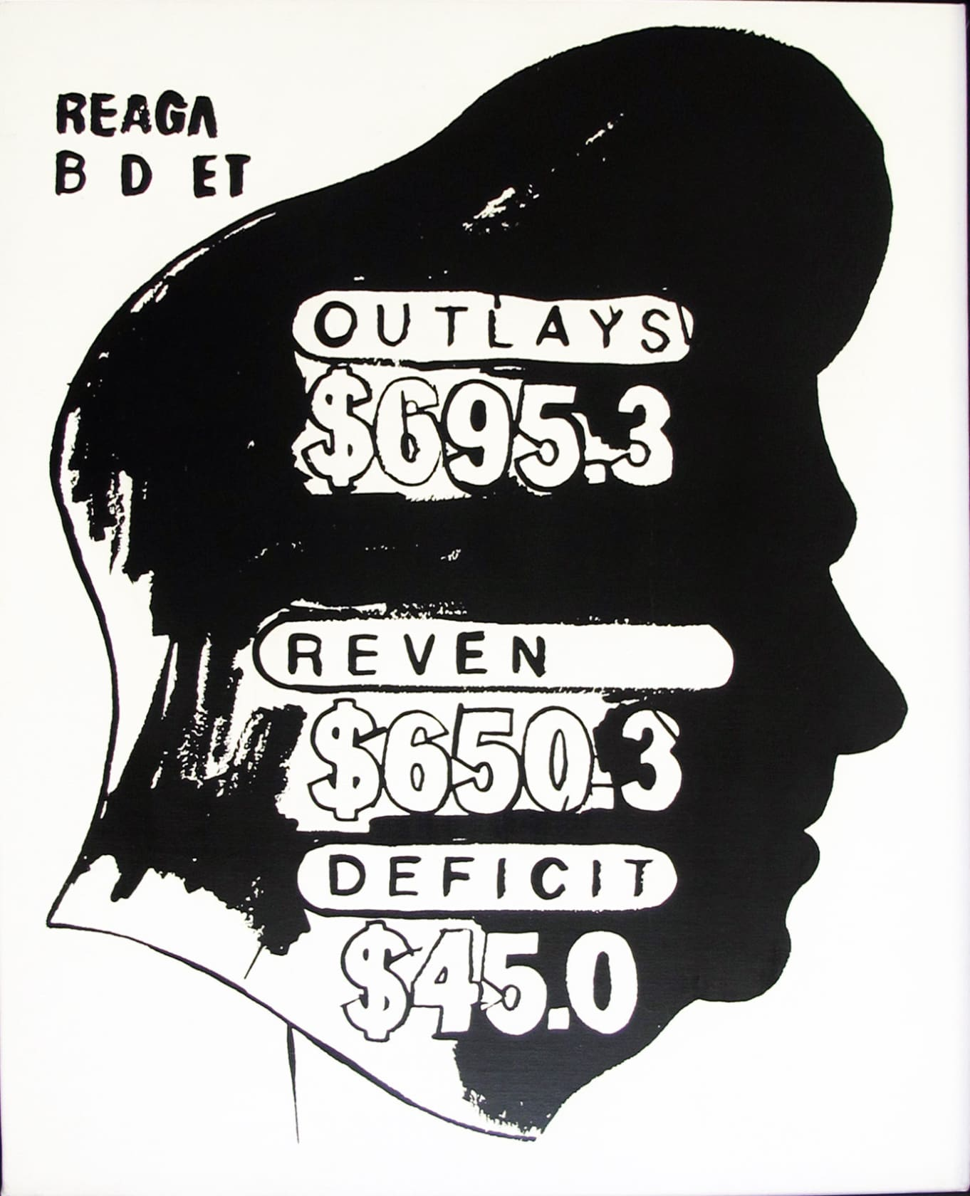 Andy Warhol, Reagan Budget Deficit (Positive), 1985-86
