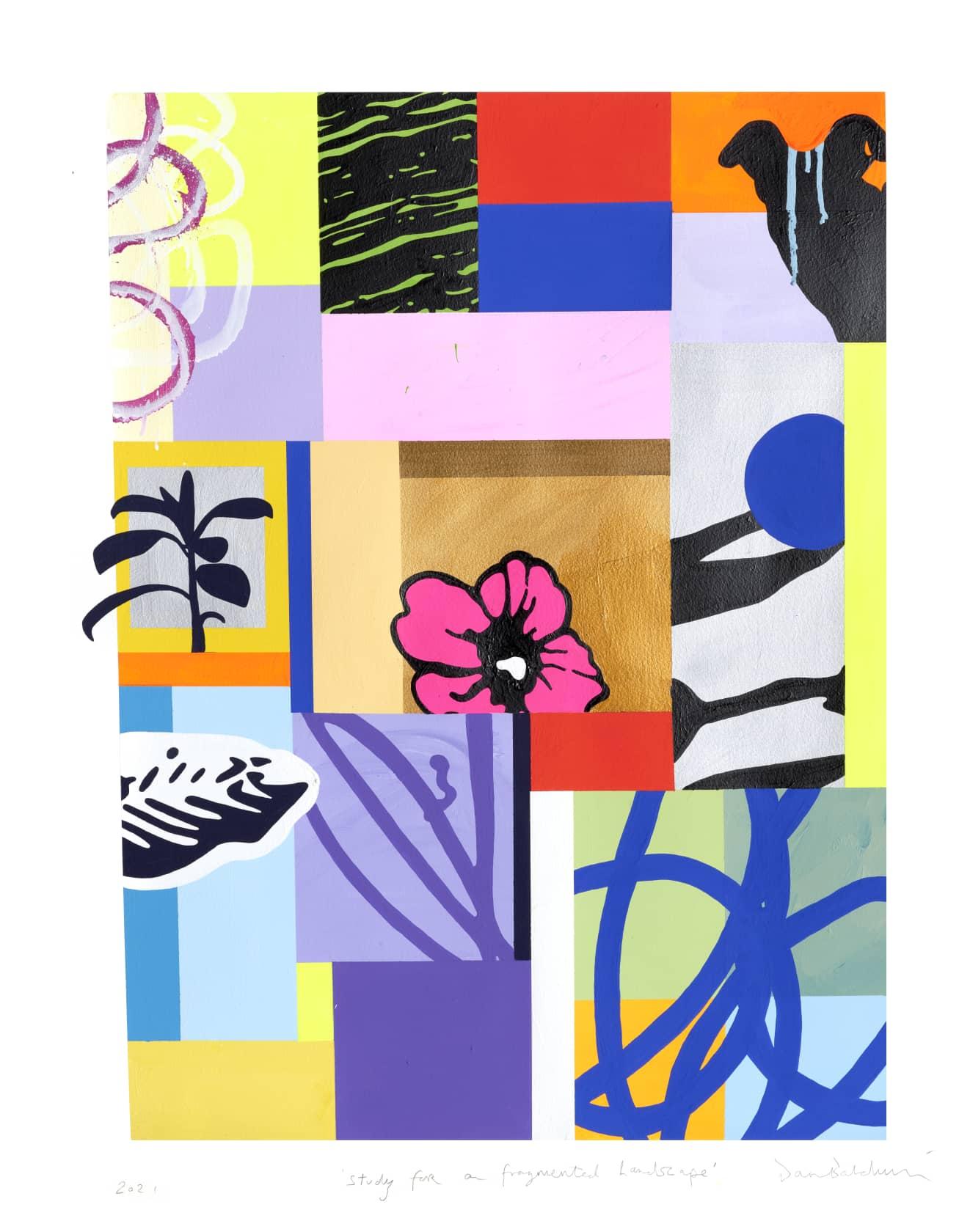 Dan Baldwin, Study for Fragmented Landscape, 2021