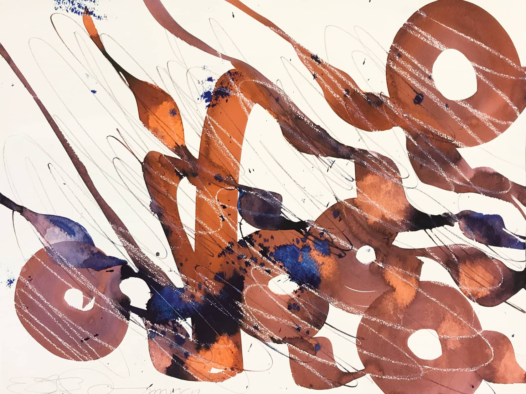 Retna Untitled Ink and Watercolour on Paper