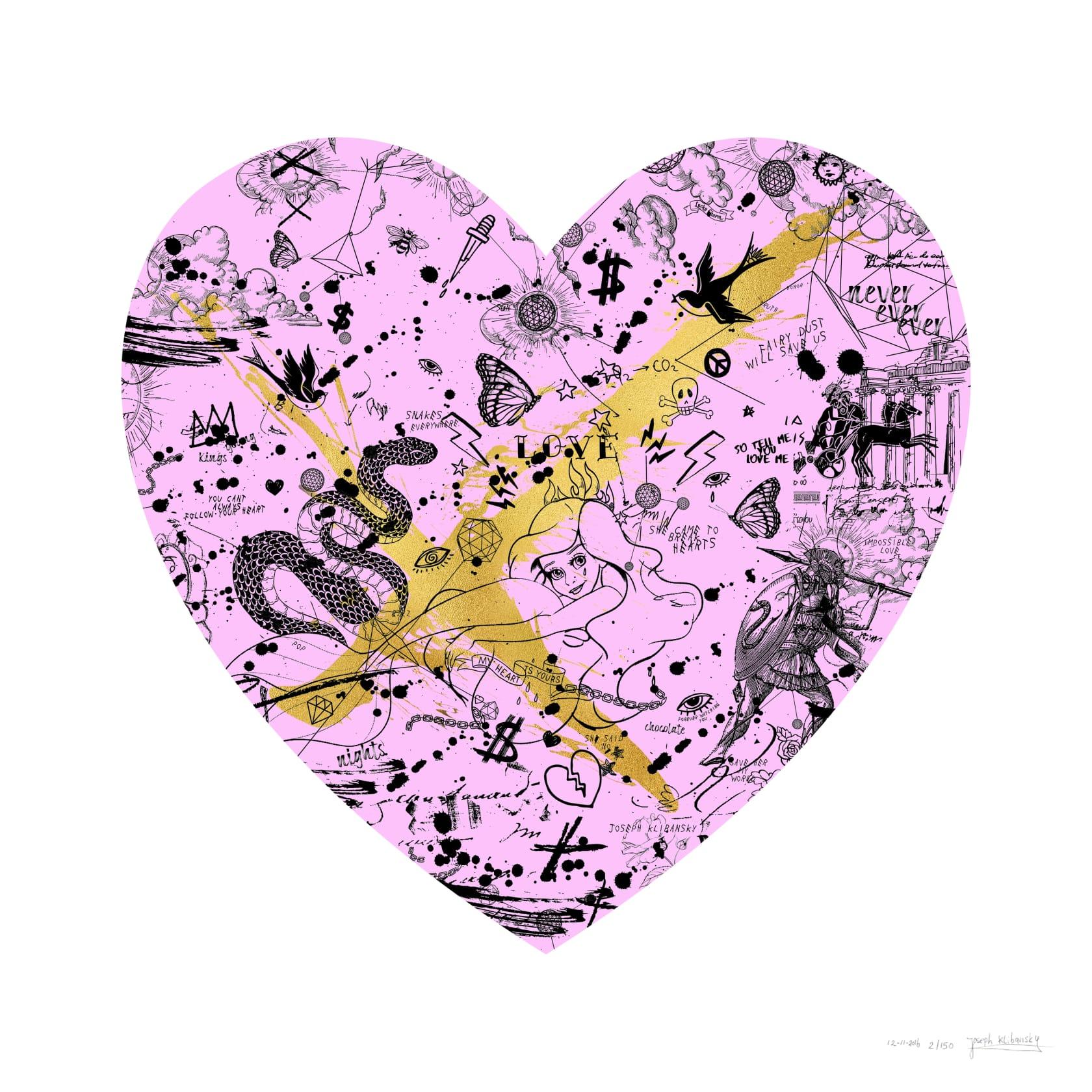 Joseph Klibansky, She Came to Break Hearts Pink / Gold, 2020