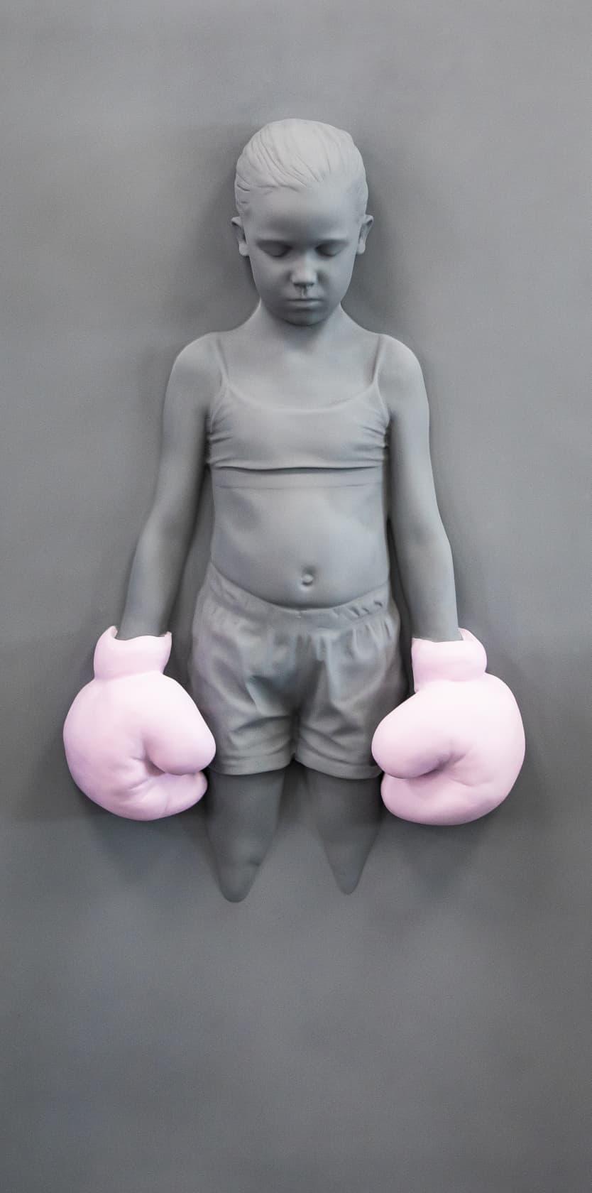 Schoony, Panel Bruiser (Pink Gloves), 2020