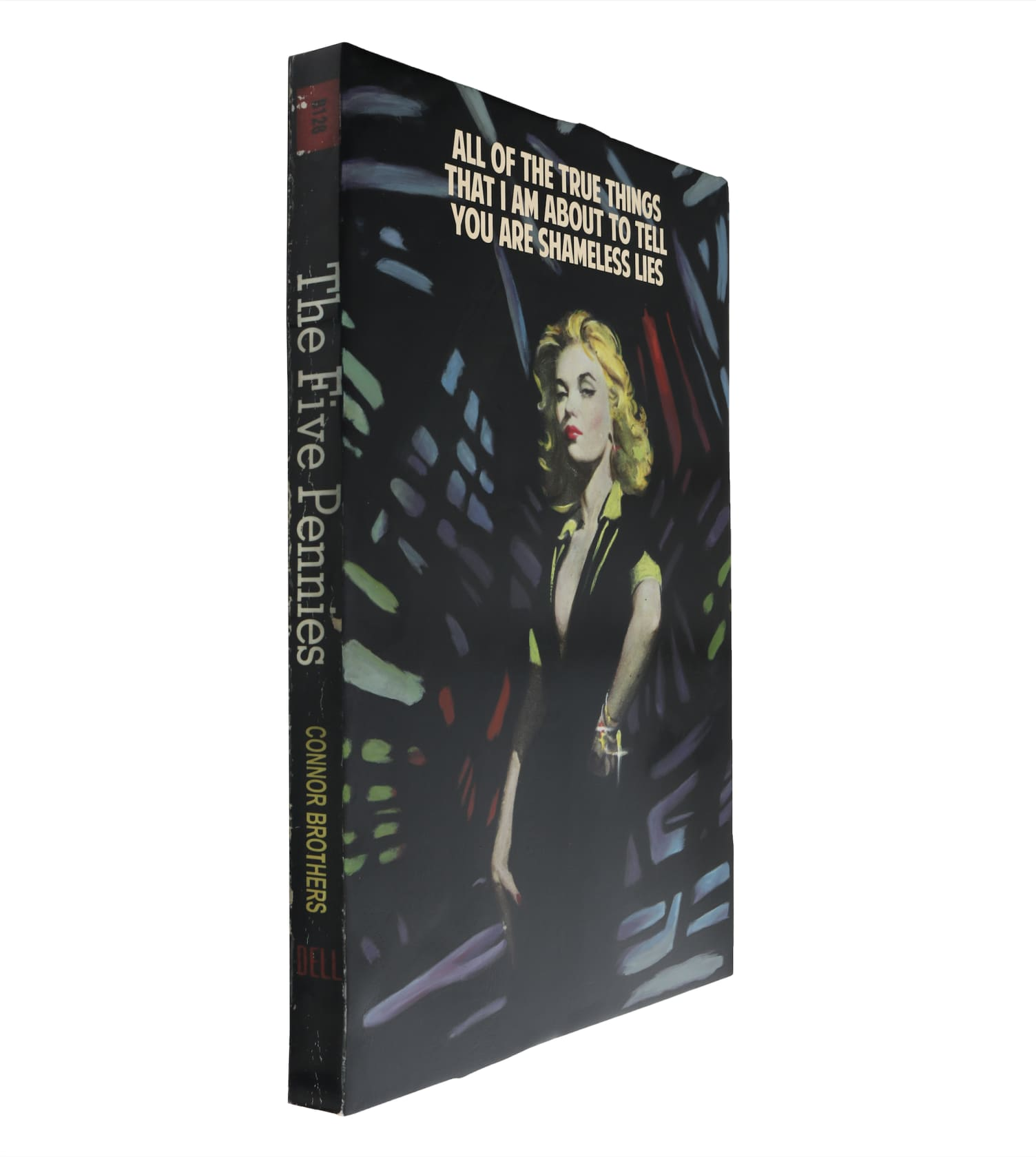 the connor brothers Shameless Lies Hand painted wooden book with silkscreen