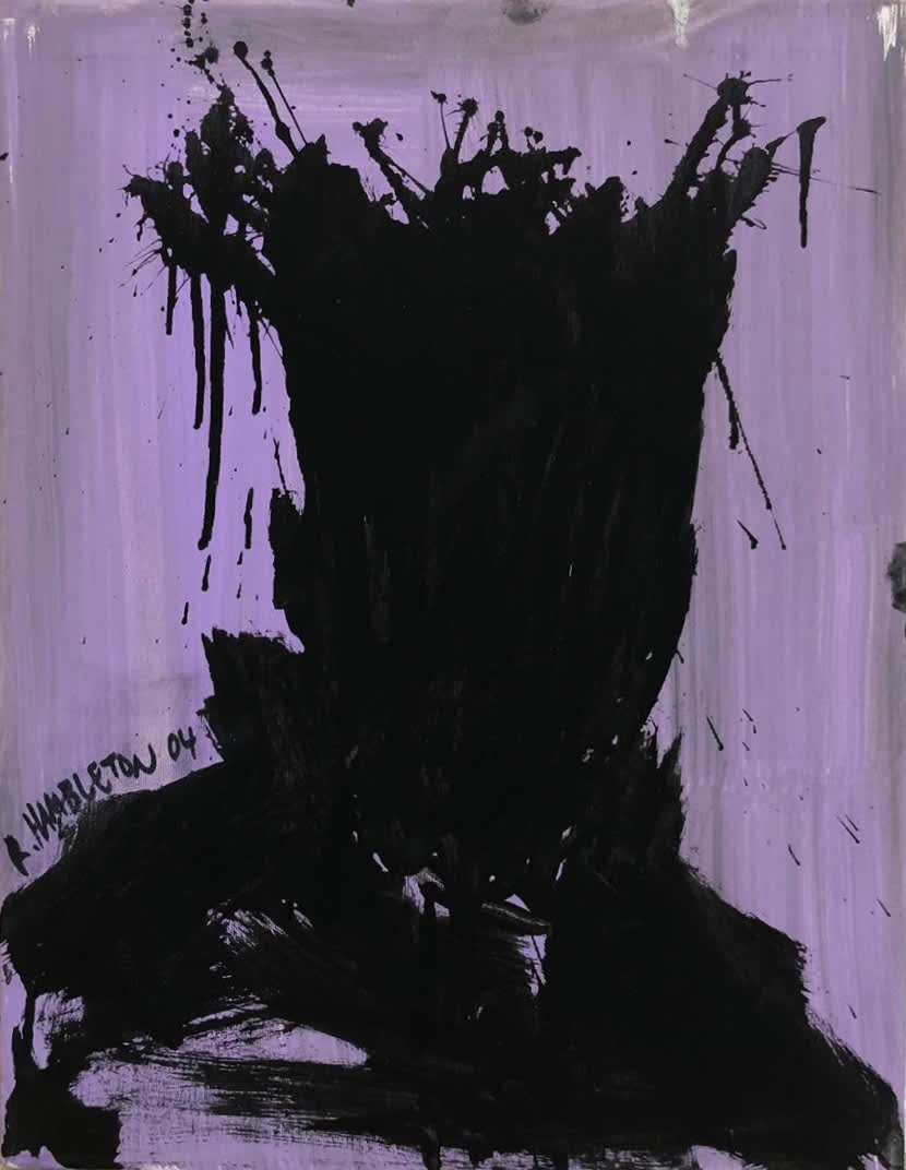 Richard Hambleton Untitled Acrylic on Canvas