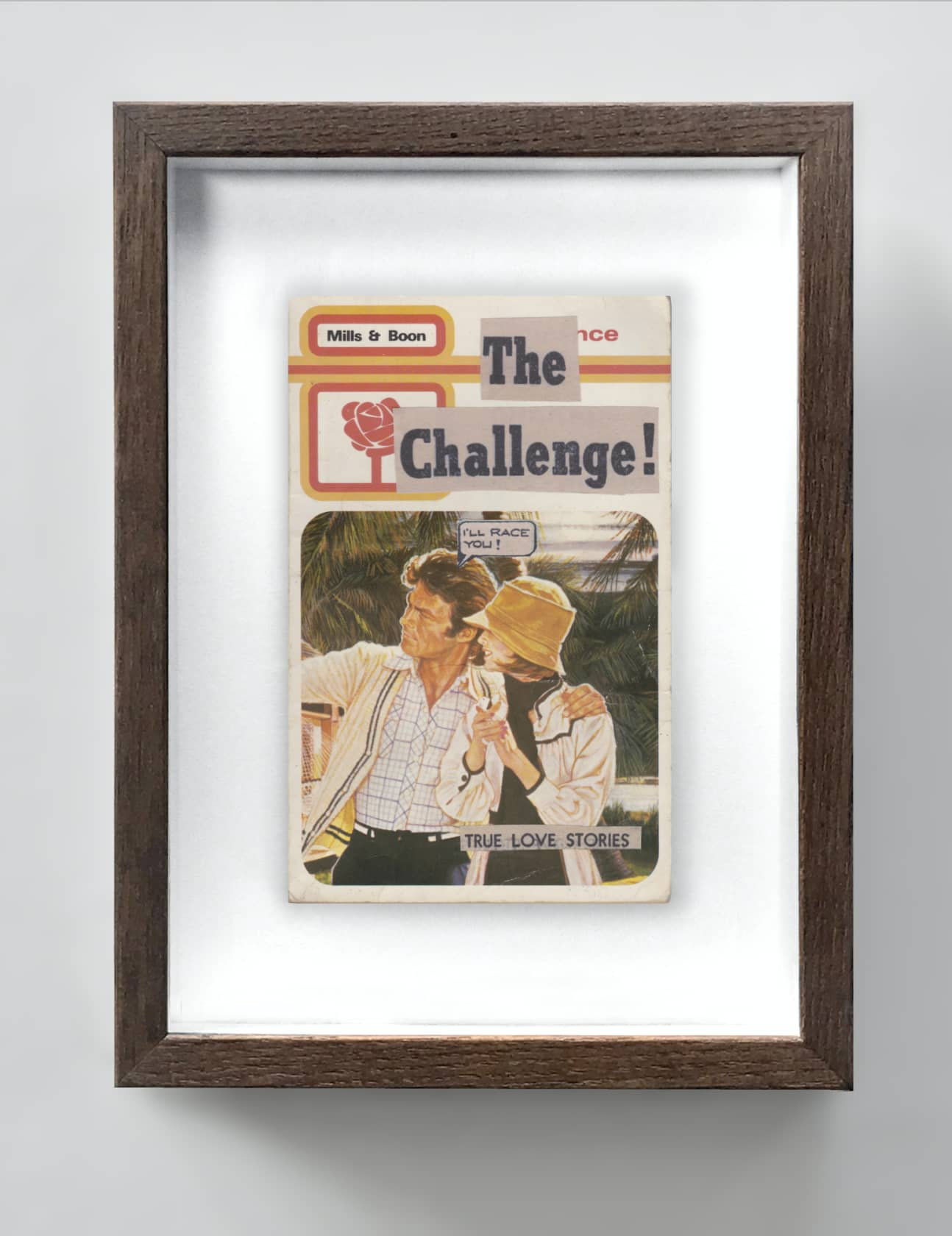 the connor brothers The Challenge Collage on vintage paperback book