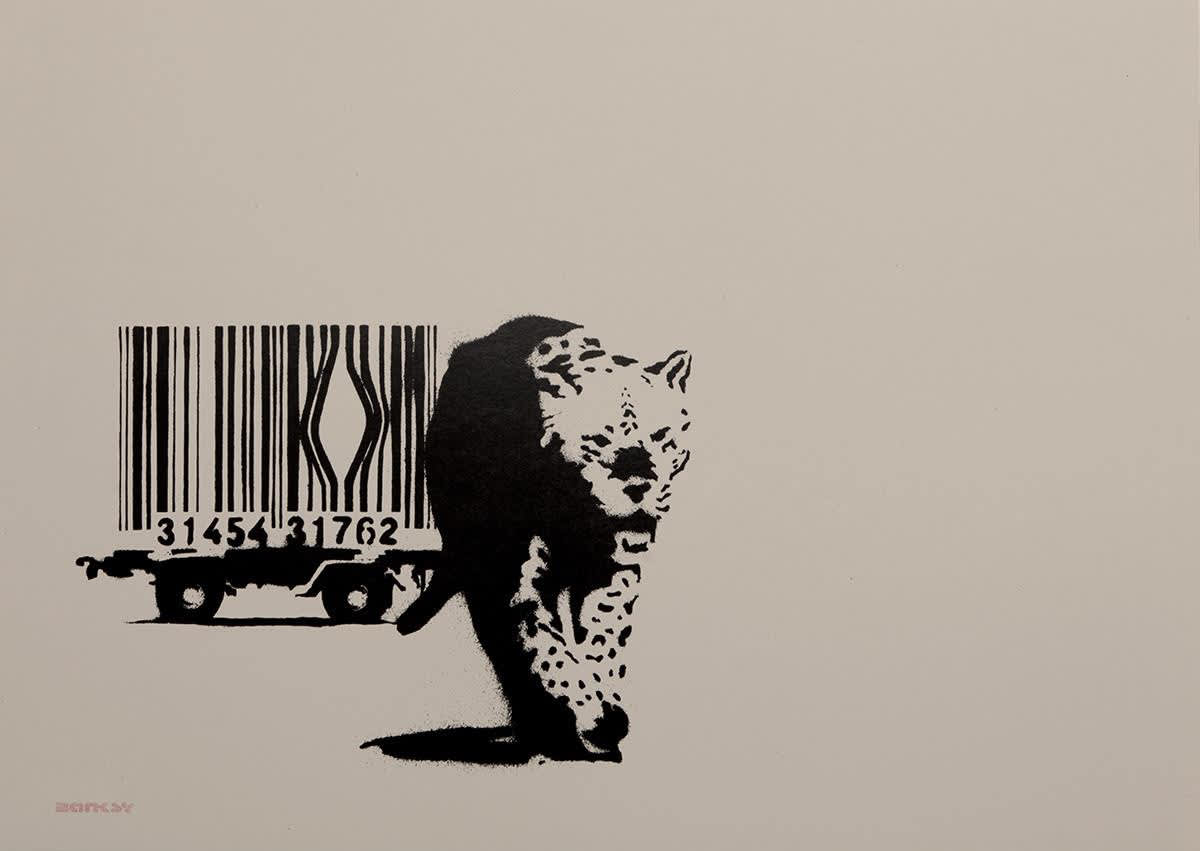 Banksy Barcode (Unsigned) Screen Print on Paper