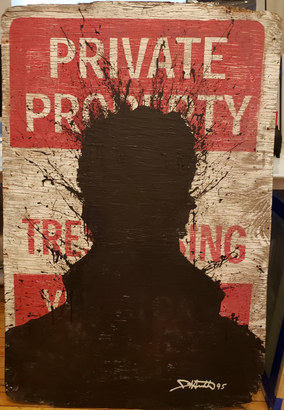 Richard Hambleton, Private Property Sign, 1995