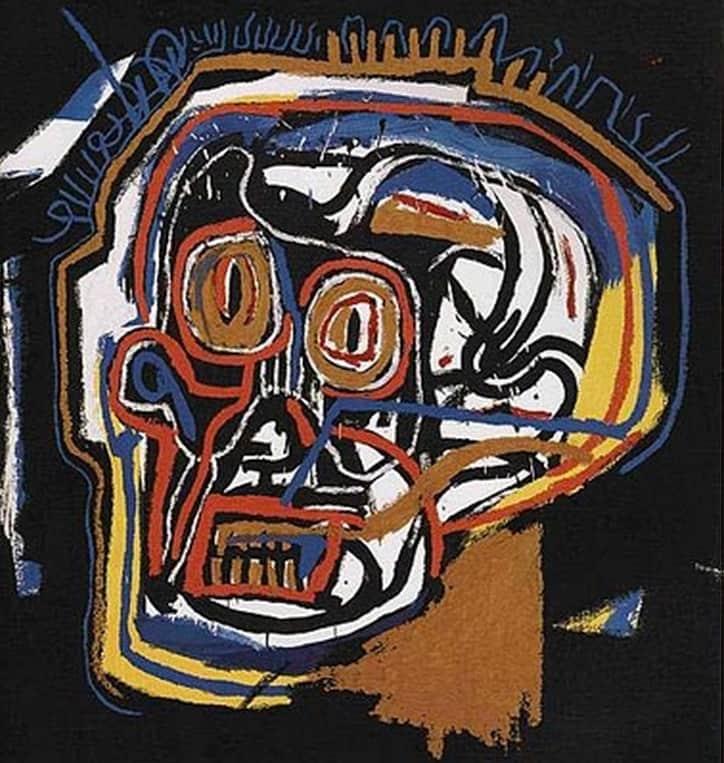Jean-Michel Basquiat Head Screenprint in colours on heavy wove paper