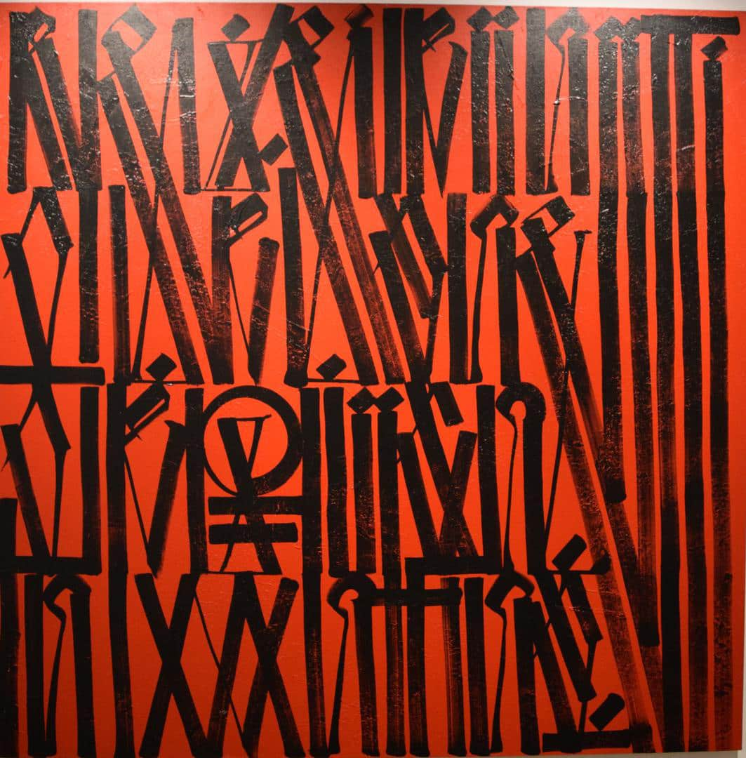 Retna Reflection of Argument Acrylic on Canvas