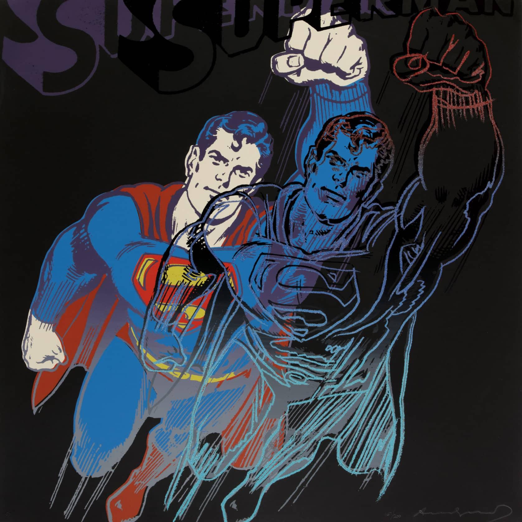 Andy Warhol Superman Screenprint in Colours