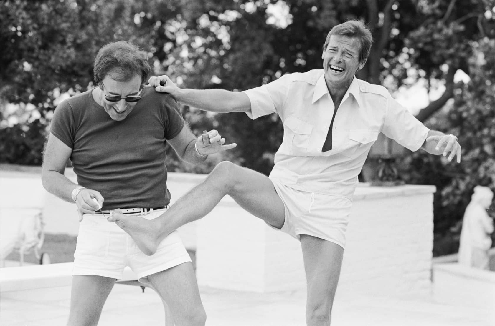 Terry O'Neill Peter Sellers and Roger Moore, Beverly Hills Posthumous Gelatin Silver Print
