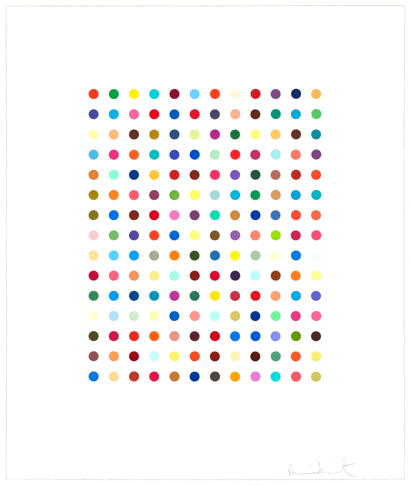 Damien Hirst Ethidium Bromide Aqueous Solution Spot Etching