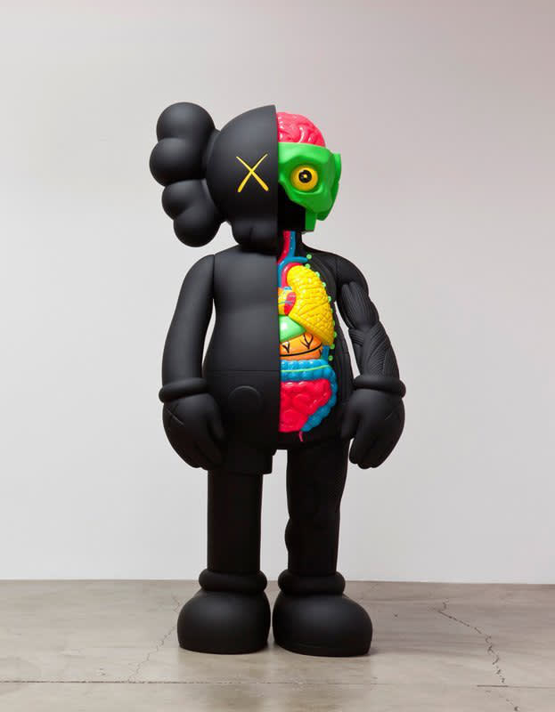 KAWS Four Foot Dissected Companion (Black) Painted cast vinyl