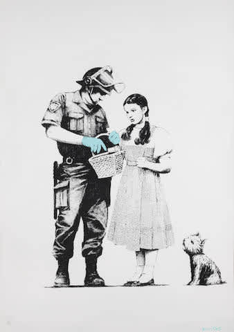 Banksy, Stop and Search (Signed), 2007