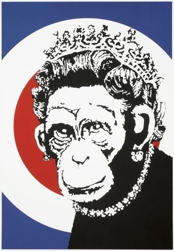 Banksy Monkey Queen Screenprint