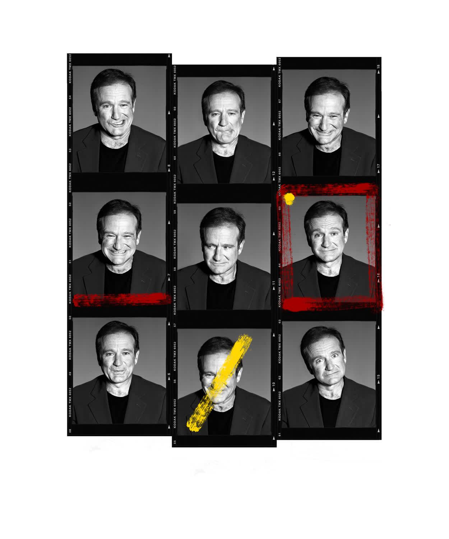 Andy Gotts Robin Williams Contact Sheet Fine Art Giclée Archival Print