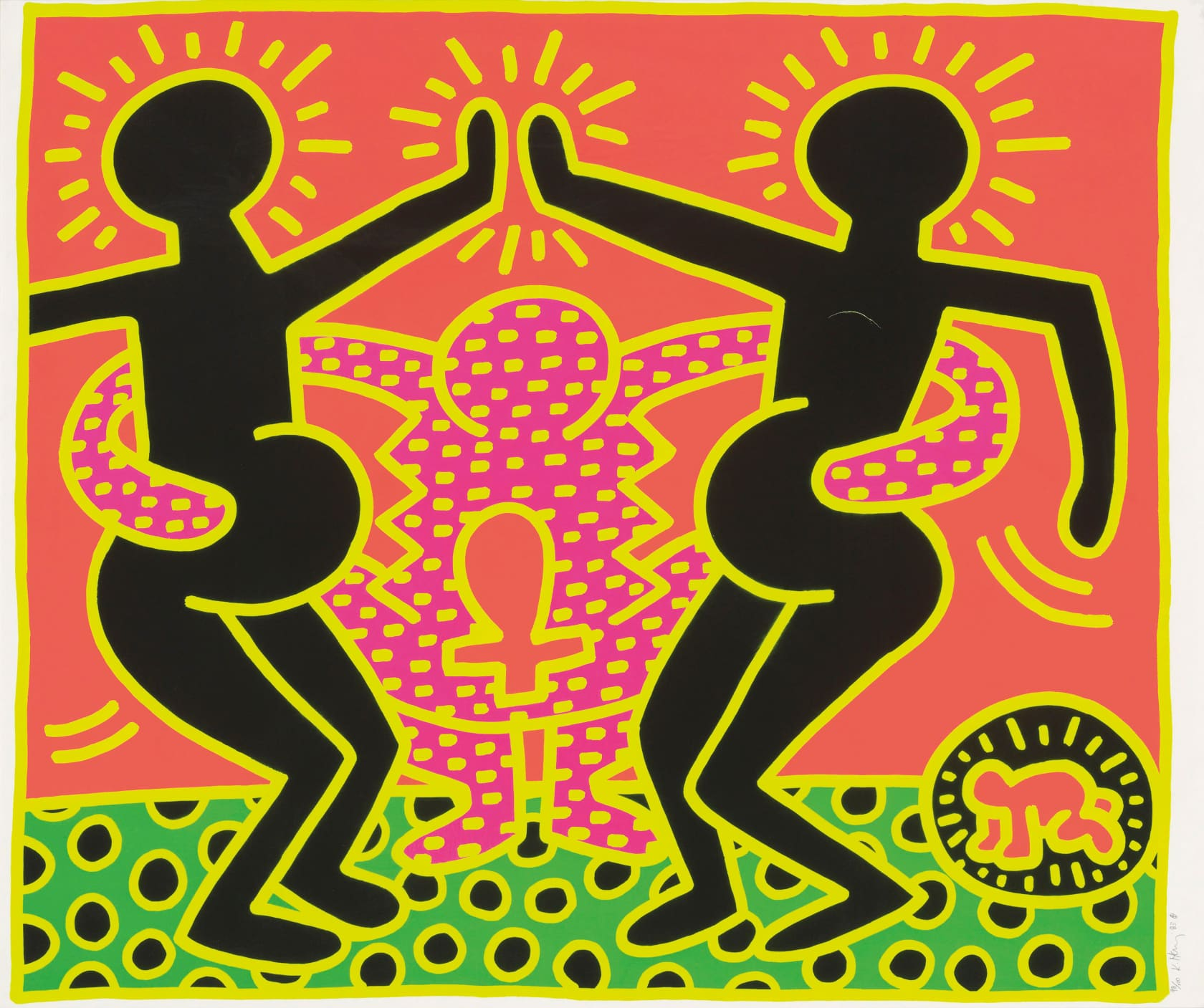 Keith Haring Fertility Suite Untitled 4 Screenprint