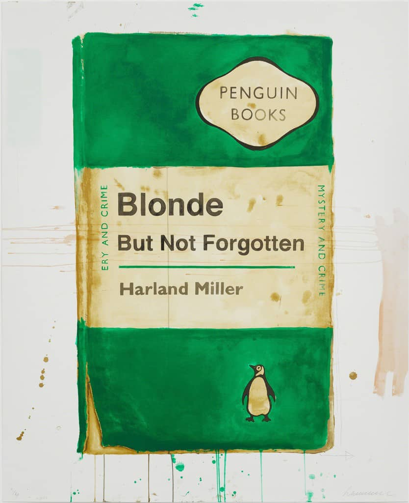 Harland Miller Blonde But Not Forgotten Screenprint