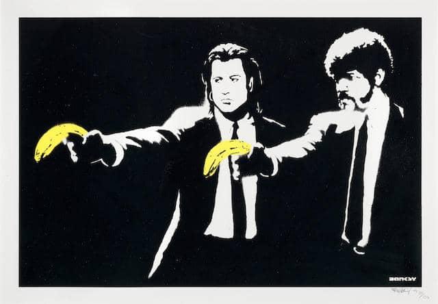 Banksy, Pulp Fiction (Signed) AP, 2004