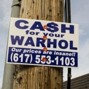 Cash For Your Warhol street art installation