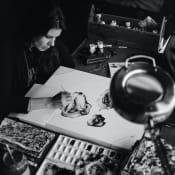 Portrait of the artist Sandra Chevrier