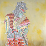 Ferris Plock Godzilla painting
