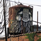 GATS graffiti on water tower