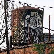 GATS graffiti on water tower