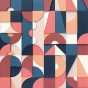 Geometric patterned acrylic on wood painting by Scott Albrecht