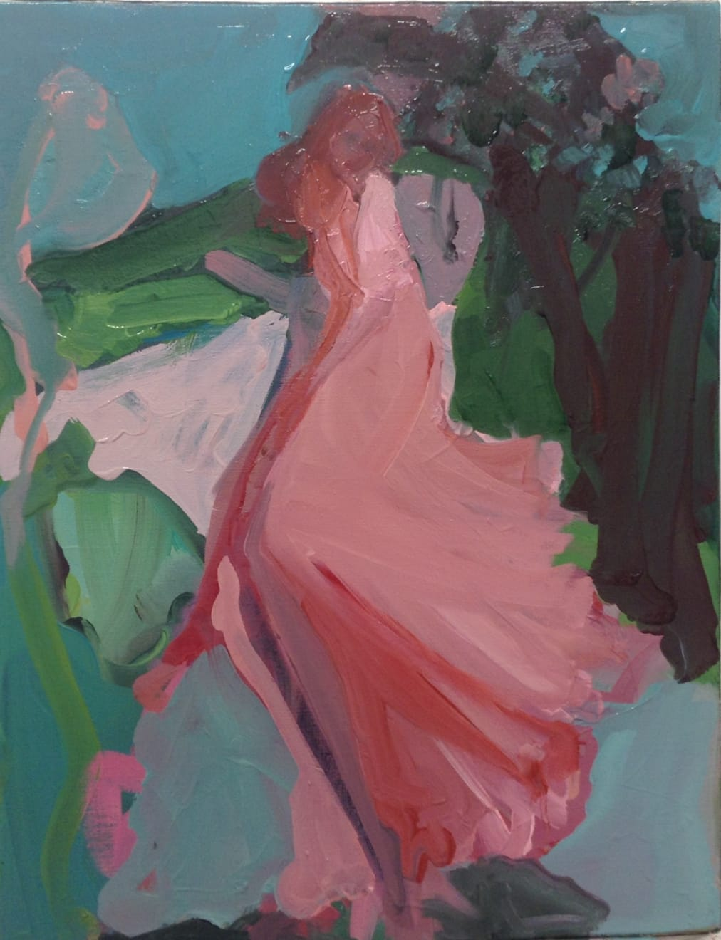 Elaine Speirs, Pink Dress, 2017
