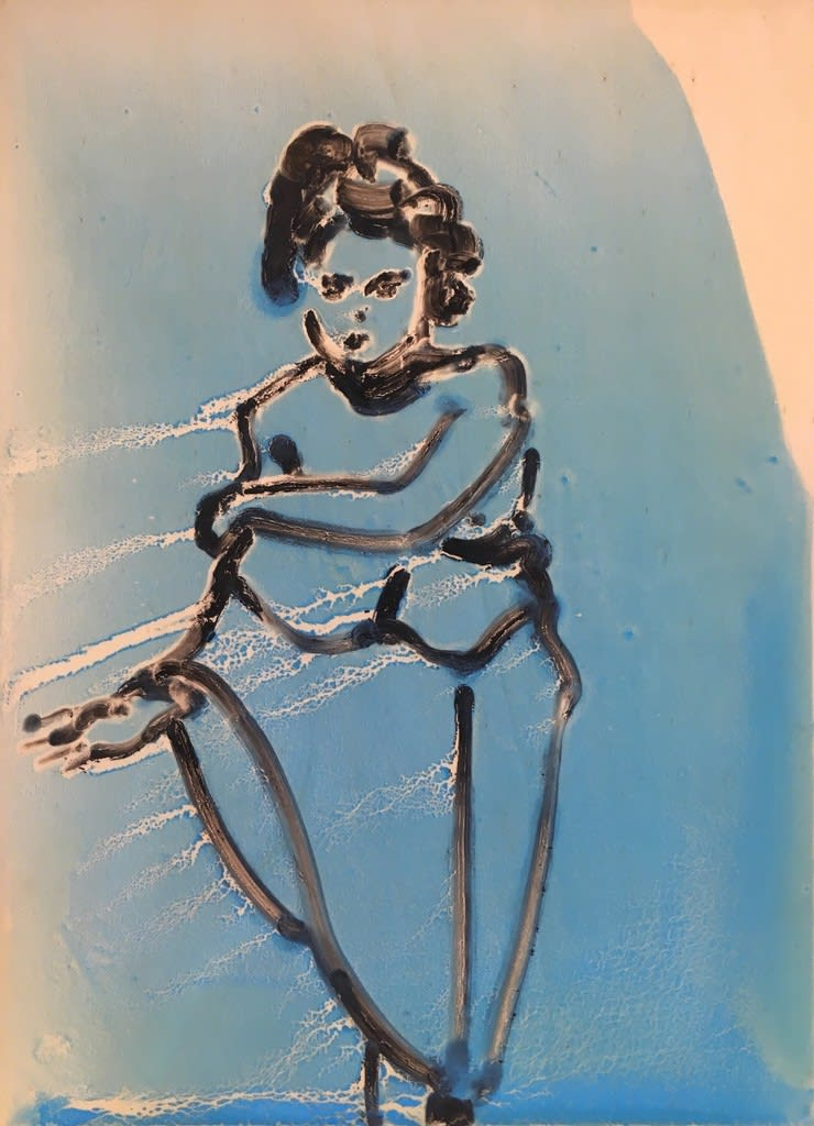 Ilona Szalay, Blue 2, 2019