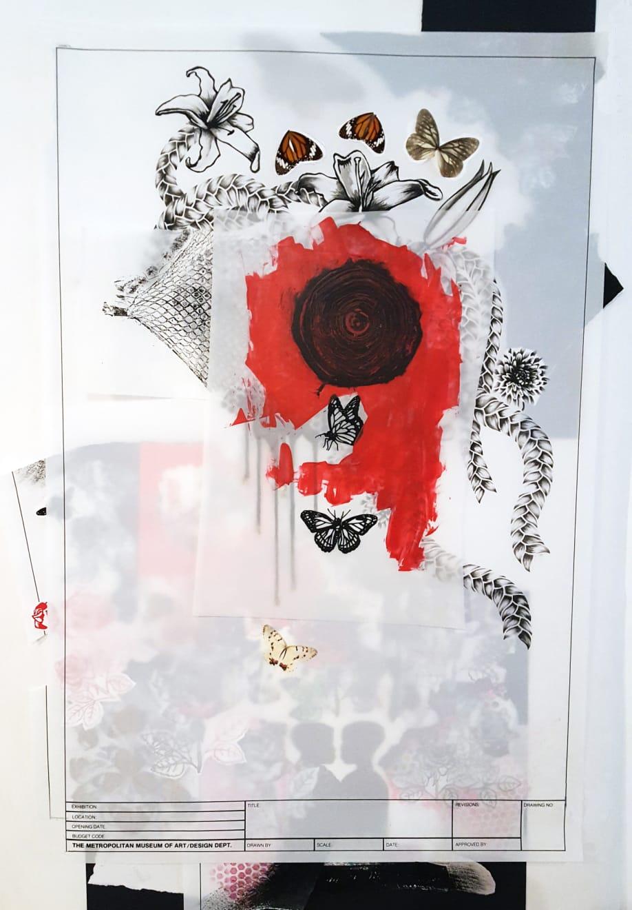 Abby Goodman, Red Spiral, 2019 | Blackbird Gallery