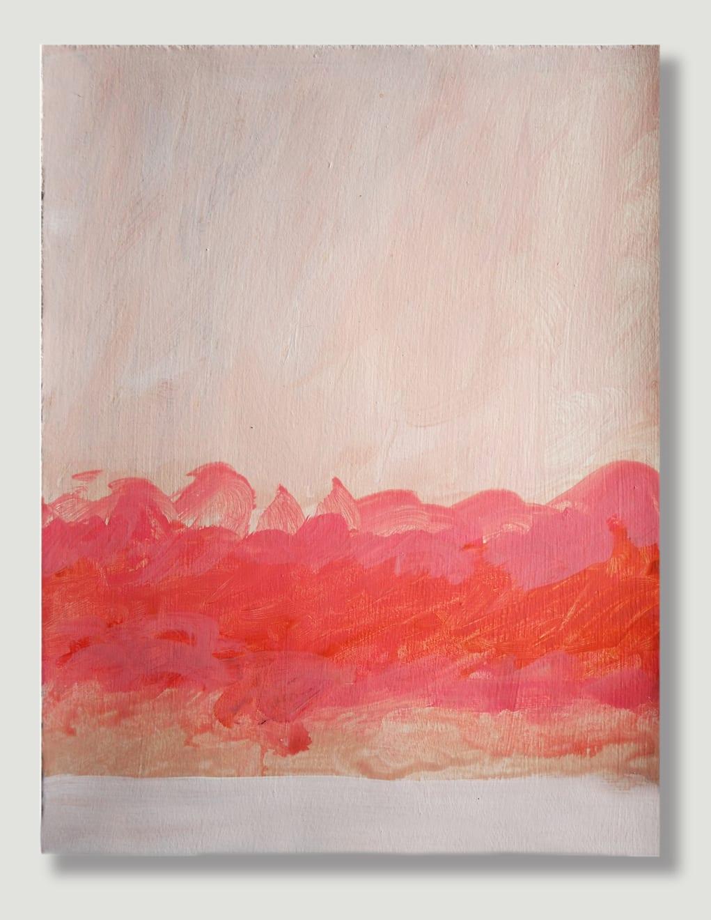 Caroline Popham, Untitled Pink/Red, 2020