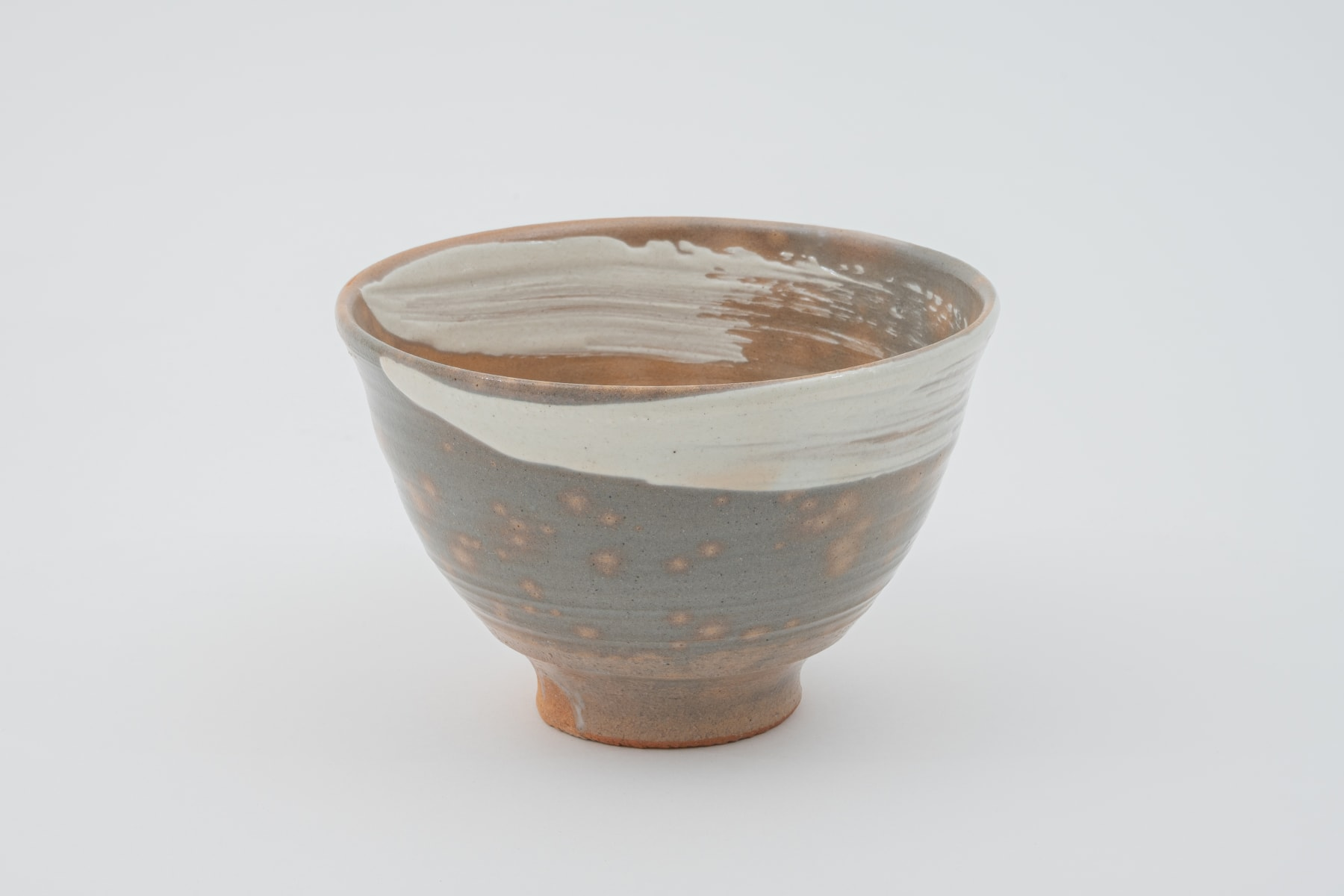 Hosai Matsubayashi XVI, Kase Tea bowl (red deer back, brush stroke) / 茶盌 紅鹿背刷毛目, 2020