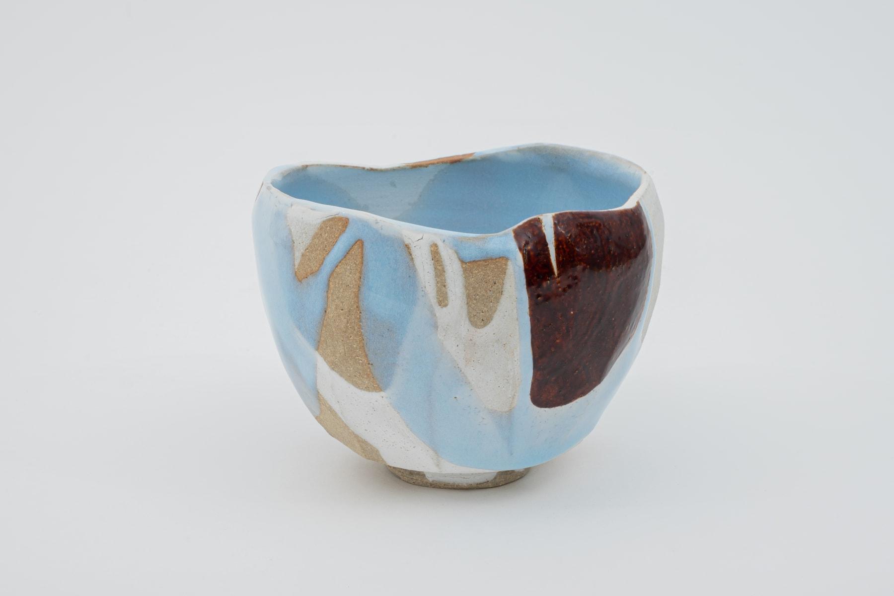 Hosai Matsubayashi XVI, Geppaku glaze with lacquer / 茶盌 陶漆合作 塗 西村圭功, 2020