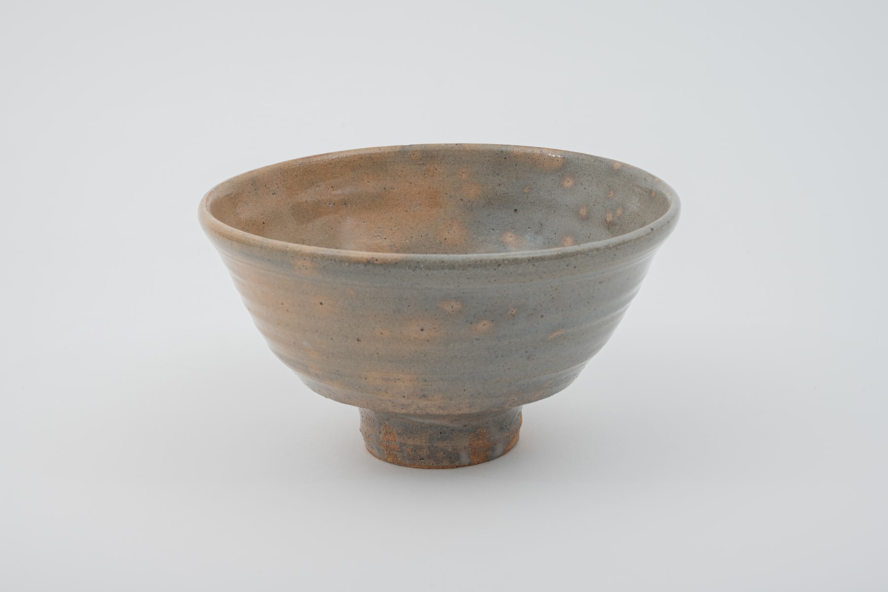 Hosai Matsubayashi XVI, Beni Kase Tea bowl (red deer back herame) / 茶盌 鹿背箆目, 2020