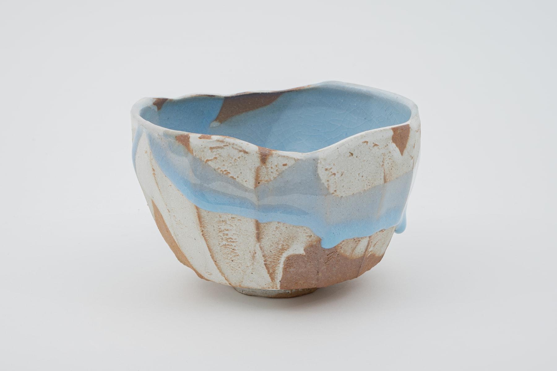 Hosai Matsubayashi XVI, Geppaku glaze Chawan / 月白釉流シ 茶碗, 2020