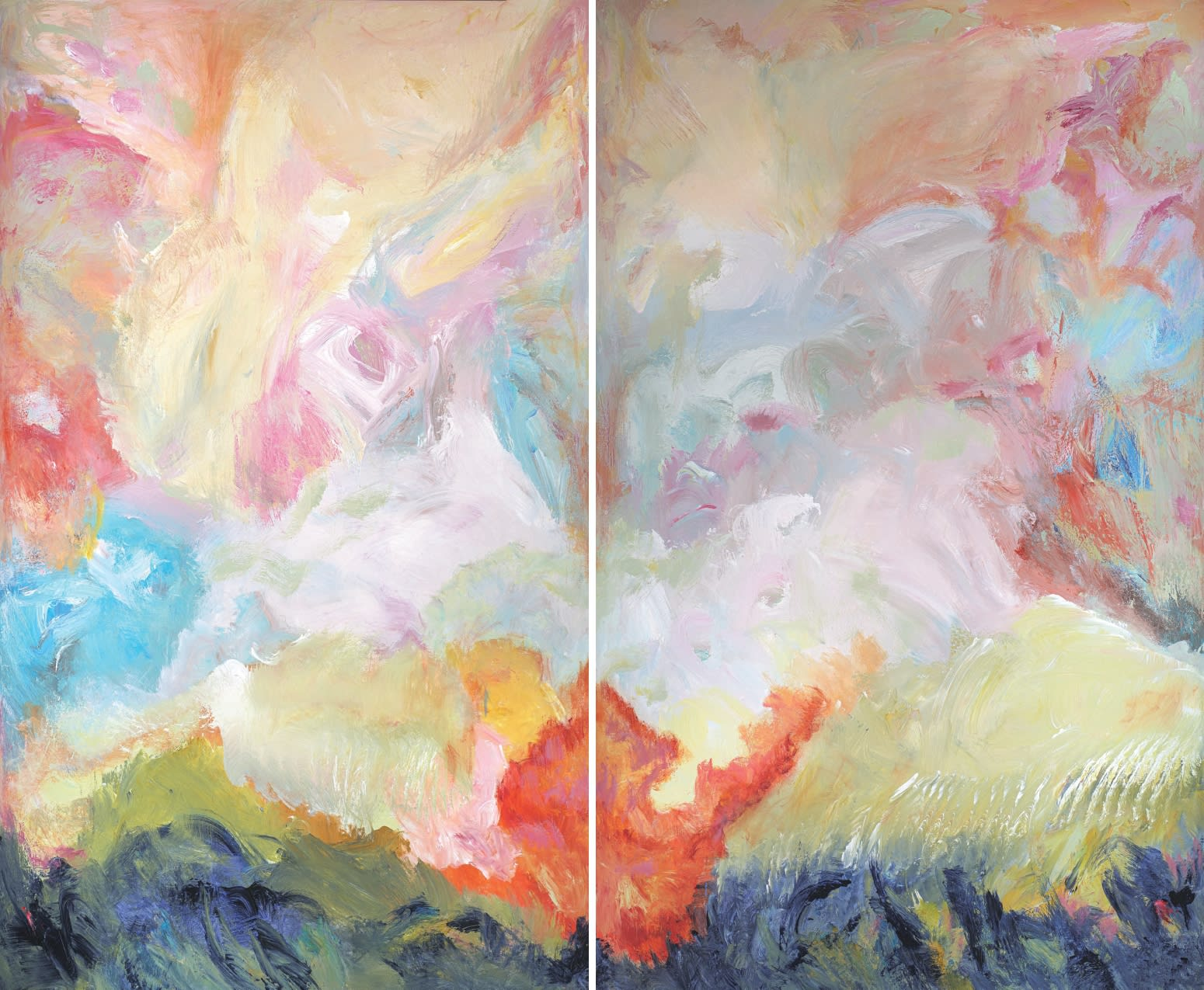 Patricia Qualls, The World is Changing (Diptych), 2020