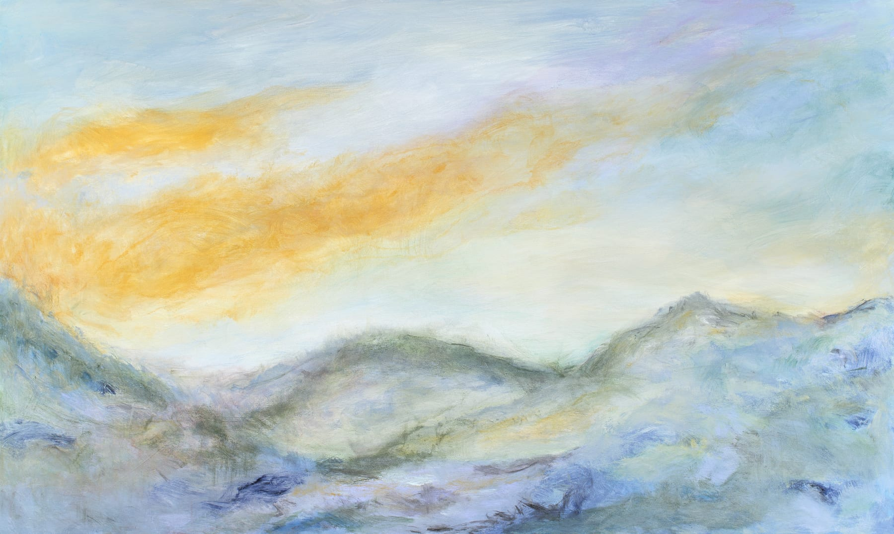 Patricia Qualls, Listening to the Mountains, 2020