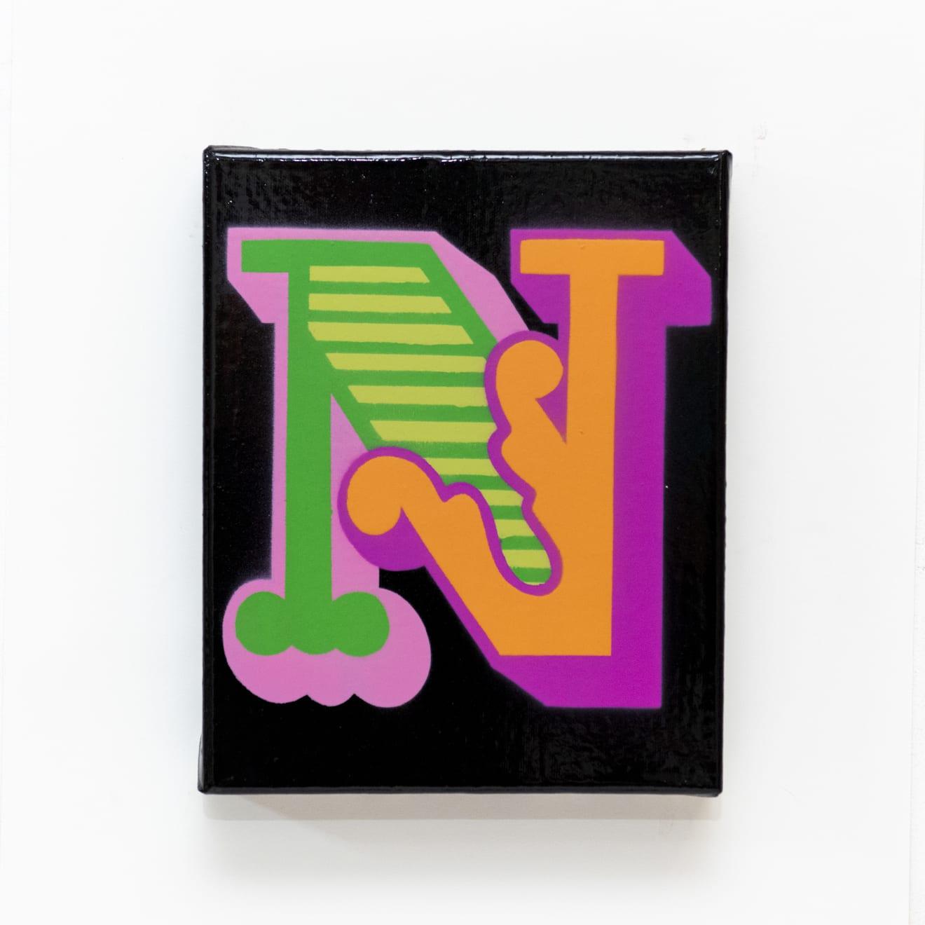 Ben Eine, 'N' NewCircus Font, 2019