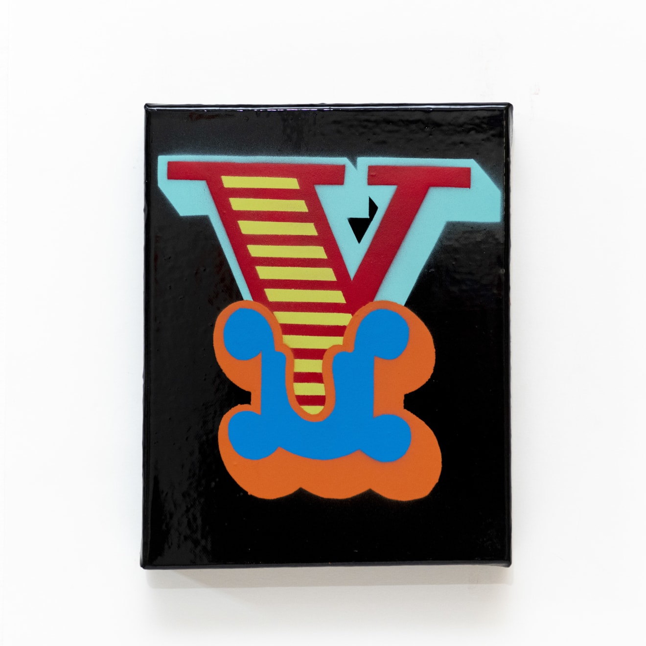'Y' New Circus Single Letter Canvas